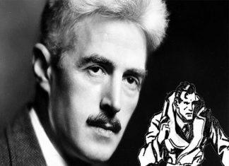 Disegno nella foto di Giuliano Fontanella riproduce il personaggio dell'Agente segreto X9, creato da Dashiell Hammett e disegnato negli anni 30 del secolo scorso da Alex Raymond.