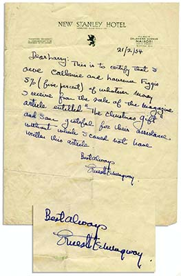 Ernest Hemingway grafologia e analisi grafologica della grafia
