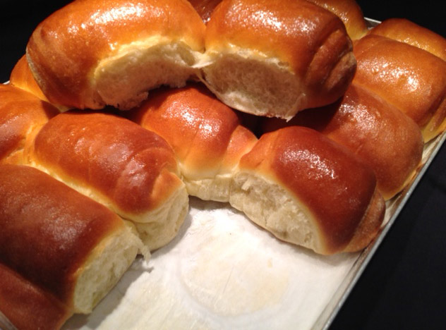 Panini Parker House rolls