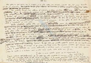 Analisi grafologica di Elsa Morante su lettera