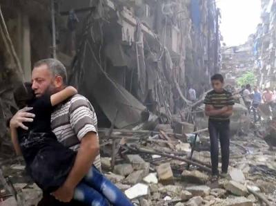 Bombardamenti ad Aleppo