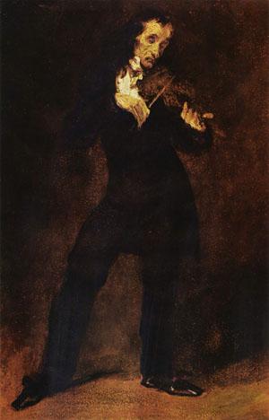 Delacroix Ritratto di Paganini, violinista