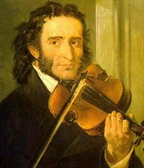 Paganini con violino