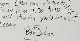 Bob Dylan, grafia