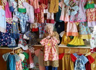 Lillian Weber: cucire abiti per solidarietà