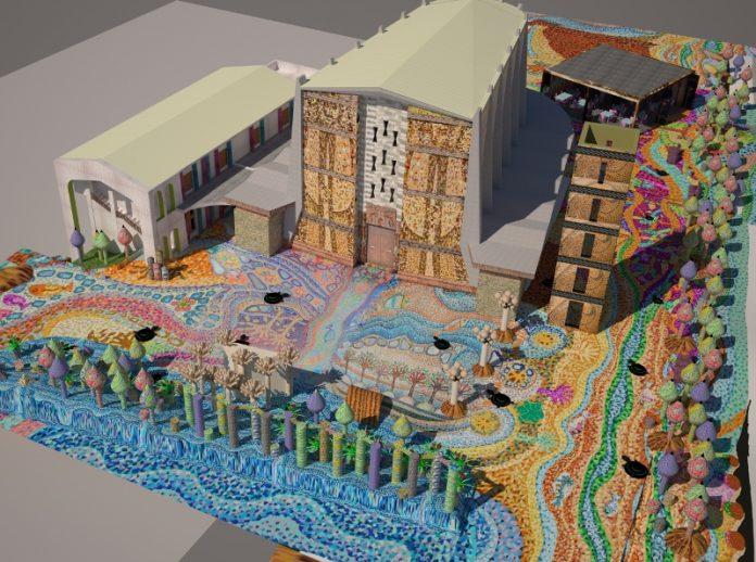 La nascita del mosaico più grande del mondo, Mosaico di Andreina: La Visione di Ezechiele.