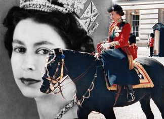 La regina Elisabetta d'Inghilterra