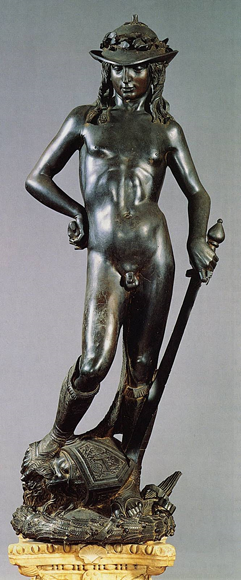 Donatello, scultore: Il David in bronzo