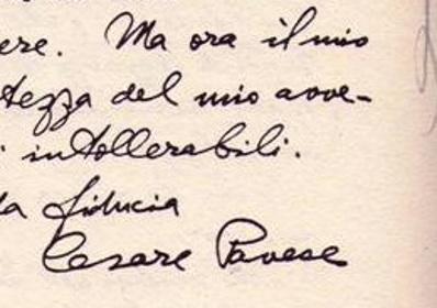 Firma omogenea di Cesare Pavese