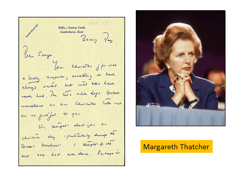 Grafia piccola di Margareth Thatcher