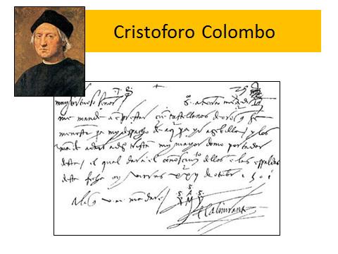 Movimento lanciato di Cristoforo Colombo