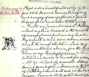 Regina Vittoria: grafologia e margine destro