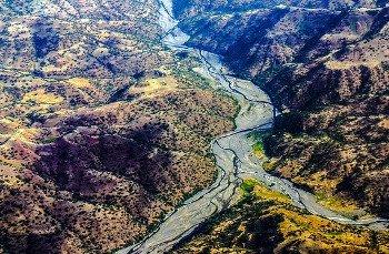 Etiopia, vista di una valle