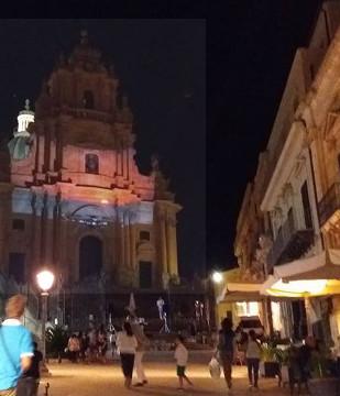 I luoghi della Sicilia del Commissario Montalbano: Il Duomo di Ragusa Ibla di notte