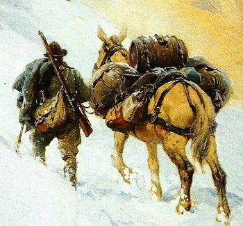 Alpini e muli