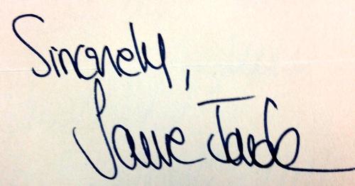 Jane Fonda firma