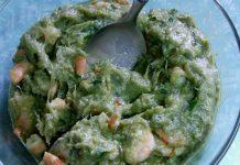 Salsa di asparagi e gamberetti