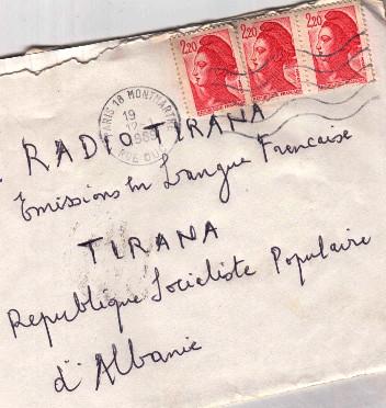 Radio Tirana, lettere