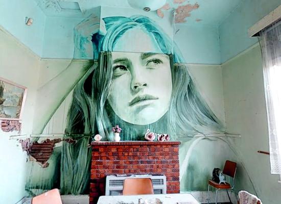 Rone, volto di donna in casa abbandonata nel percorso 3D