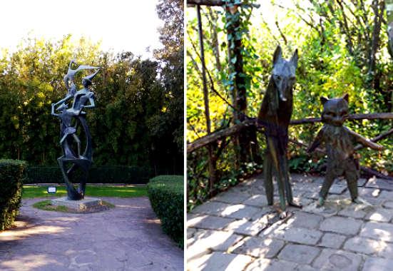 Reportage da Collodi: Sulle tracce di Pinocchio, le statue del parco