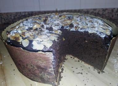 Tortino alla Polpa di Carrube, Cioccolato, Caffè e rhum