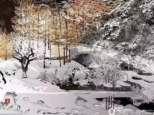 Arte creatività Tatsuo Horiuchi paesaggio invernale