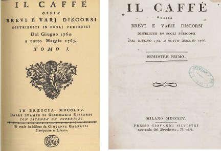 Il Caffè di Pietro Verri, il periodico