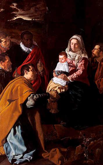 Adorazione dei Magi Diego Rodríguez de Silva y Velázquez, semplicemente noto come Diego Velázquez