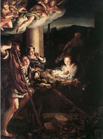 Adorazione dei pastori Correggio