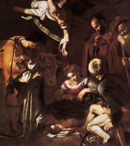 Natività con i Santi Lorenzo e Francesco Michelangelo Merisi