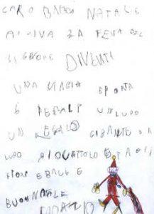 Caro Babbo Natale letterina di Fabrizio