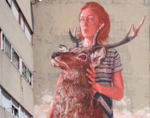 Fintan Magee murales di Roma