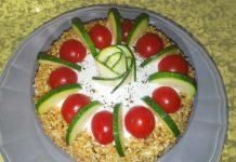 Tortino integrale salato di zucchine e pomodori secchi