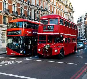 olio di caffè nei bus di Londra