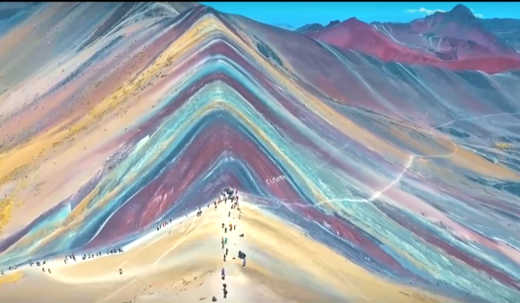 Montagne arcobaleno del Perù