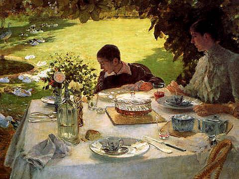 colazione in giardino di Giuseppe De Nittis