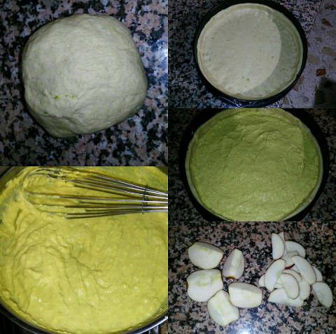 Crostata integrale con mele, limone e cannella preparazione