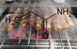 Acrilammide, struttura molecola