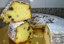 Ciambella con semola integrale, cocco, frutti di bosco e limone