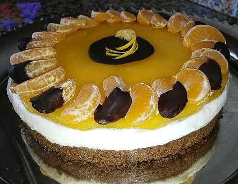Cheesecake al mandarino e cioccolato fondente 1