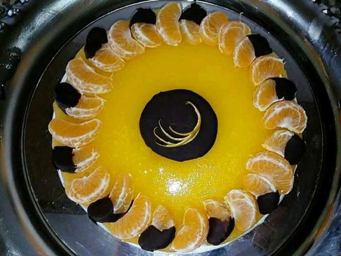 Cheesecake al mandarino e cioccolato fondente
