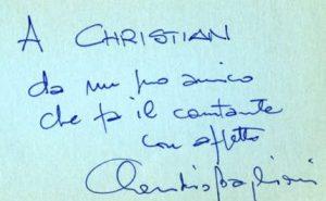 Claudio Baglioni, grafia e analisi grafologica