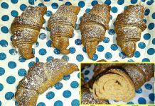 Croissant integrali, sfogliati all'olio, senza uova