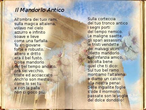 Il Mandorlo Antico la poesia di Michelangelo La Rocca