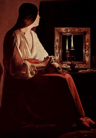 Georges de La Tour La Maddalena penitente allo specchio 2