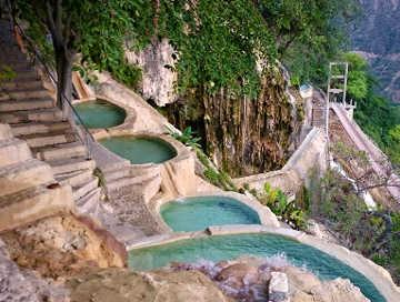 Le grotte di Tolantongo le vasche