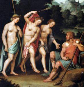 Pallade Atena Paride e il pomo della discordia, mela d'oro 2