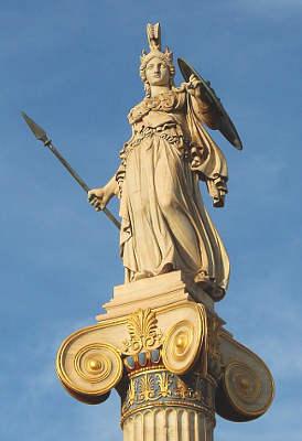 Pallade Atena tra logos e vendetta 3 statua