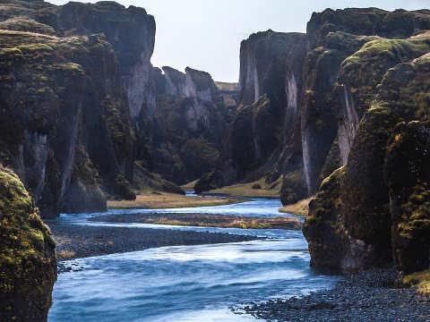 Canyon dell'Islanda Fjaðrárgljúfur 3