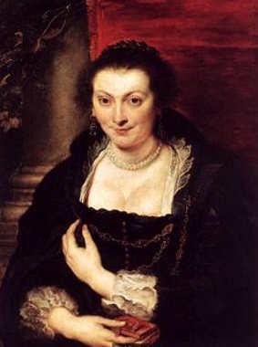 Il rosso carminio nell'arte, 2 ritratto di Isabella Brandt di Rubens